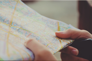 A map to find the right direction with enhance coaching